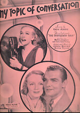 "THE 13th MAN Sheet Music ""My Topic Of Conversation"" Eadie Adams Inez Courtney"
