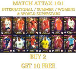 2019 Topps Match Attax 101 Summer / International / World / Women Stars Cards