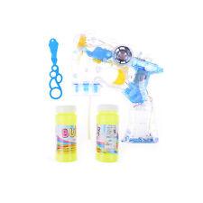 Bubble Gun Flashing Light Up Bubbles Blaster Blower Wholesale Party Favor LJ