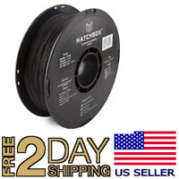 HATCHBOX PLA 3D Printer Filament, 1 kg Spool, 1.75 mm, Black