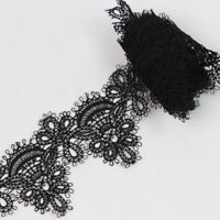 2 Yards 6cm off-White or Black Embroidered Net Lace Vintage Lace Trim Fit Sewing