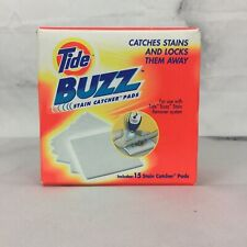 Tide BUZZ Refill Pack 15 Absorbent Stain Catcher Pads Laundry Pretreat