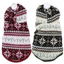 Pet Dog Winter Warm Coat Snowflakes Printed Velvet Hoodie Sweater Clothes #3YE