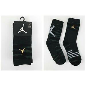Nike Air Jordan Kids Basketball Socks Boys Youth 3Y-5Y Camo High Crew NEW 2 Pack