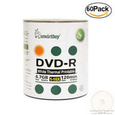 6000 Smartbuy DVD-R 16X 4.7GB Record Disc Shrink Pack - White Thermal Printable