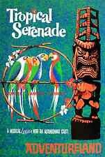 "Vintage Disneyland/World - Enchanted Tiki Room - 1963 [ 8.5"" x 11"" ]  Poster"