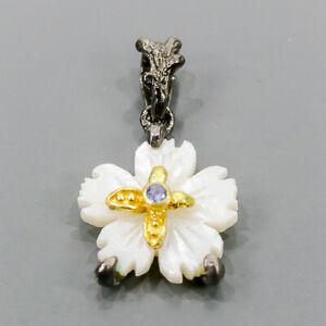 Handmade Shell Pendant Silver 925 Sterling  /NP14463