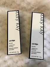 NEW MARY KAY Satin Lips Lip Mask - .3 oz. - LOT OF 2 - Retired - NEW IN BOX MK