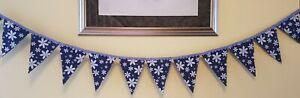 Handmade Blue 💙 Daisy Bunting