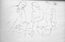 Lithography original - George Grosz - Ecce Homo - Der Visit - 1923