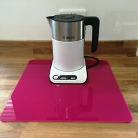 Square Kitchen Worktop Savers in Pink Gloss Finish Acrylic 3mm