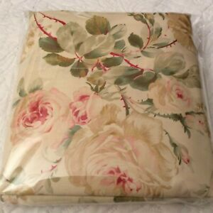 Ralph Lauren Woodstock Garden Floral King Flat Sheet 350 TC Sateen Italy NIOP