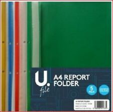 A4 Project Folder Report Presentation File Pack of 5 Mixed colours.