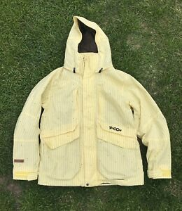Men's Volcom Green Line V-Co Logical Yellow Snowboard Jacket w/ Hood Large