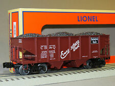 LIONEL CB&Q SCALE GLA 50 TON TWIN HOPPER 188005 81688 o gauge train load 6-81692