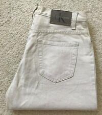 "Calvin Klein CK ""Blue Jeans"" beige straight leg USA jeans denim jeans W 32 L 31"