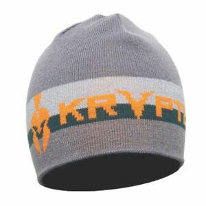 Kryptek Retro Acrylic/Spandex One Size Beanie, Color: Grey/Orange/Green