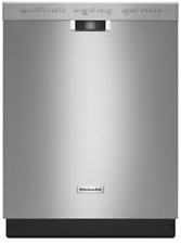 """KitchenAid Kdfe104Dss 24"""" Stainless Fully Integrated Dishwasher"""