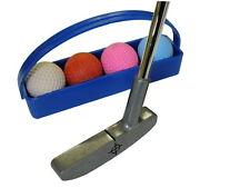 Minigolf-Set Minigolfschläger 4 Minigolfbälle Ballkörbchen