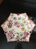 Vintage MacKenzie-Childs 2004 Chelsea Luster Lunch Plate Floral Design 11.5""