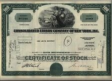 Consolidated Edison Stock Certificate Con Ed New York