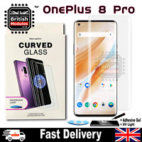 OnePlus 8 Pro UV Glue Nano Optics 3D 9H Curved Tempered Glass Screen Protector