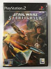 PS2 Star Wars: Starfighter (2001), Regno Unito PAL, & Nuovo Di Zecca Sigillato in fabbrica, IMPERFETTA