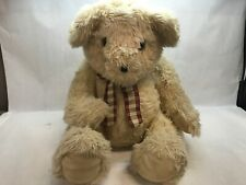 FAO SCHAWRZ Vintage TEDDY BEAR with PLAID BOW TIE Eyes CLASSIC