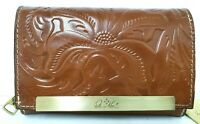 NWT Patricia Nash Burnished CAMETTI Italian Leather Wallet Tooled FLORENCE - A12