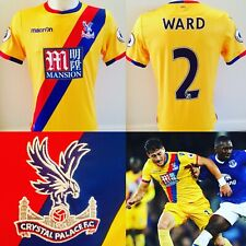 Joel Ward MATCH WORN 2016/17 Crystal Palace FC RARE Player Away Shirt *COA*