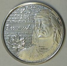 2012 Canada Tecumseh Frosted 25 Cents BU