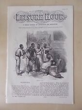 ANTIQUE VICTORIAN THE LEISURE HOUR MAGAZINE PAPER No 990 DECEMBER 17th 1870
