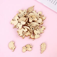 10X Skull// Leaves with Holes Wood Shapes Charms DIY Hanging Decorations Crafts