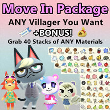 Any Villager Move In + 40 Stacks of Mats Package: Animal Crossings Raymond Judy