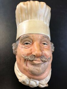 VINTAGE BOSSONS OF ENGLAND CHEF CHALKWARE HEAD