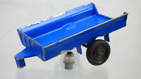 Vintage Lonestar Farm King Blue Tractor Trailer For 1258 Roadmaster Diecast Toy