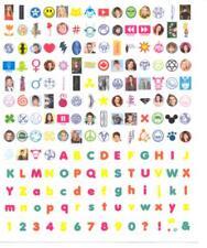 184 coole Handy-Sticker zum Aufkleben!