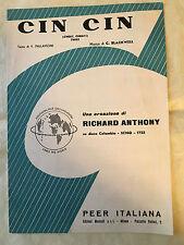 SPARTITO MUSICALE CIN CIN CHEAT CHEAT TWIST RICHARD ANTHONY BLAKWELL 1964