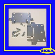 116791 (110789) X 2 IKEA BED FRAME MOUNTING PLATE FOR FRAMES MALM, HEMNES, HOPEN