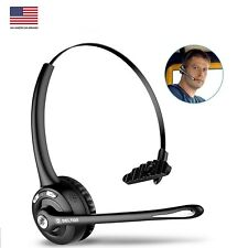 Trucker Wireless Headset, Delton Over-the-Head Bluetooth Headset with Mic