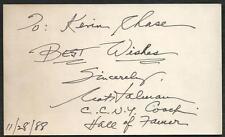 NYU CCNY NBA HOF Nat Holman (d.95) Signed Auto Vintage 3x5 Index Card F5