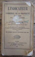 L'INDICATEUR DU COMMERCE DE LA PROPRIETE ET DE L'INDUSTRIE 1864 ARPENTAGE
