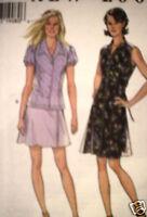 UNCUT Vintage New Look Sewing Pattern 6 8 10 12 14 16 Dress Skirt Top 6511 OOP