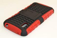 For Google LG Nexus 4 E960 Red Tough Dual Layer Heavy Duty Case Cover Stand