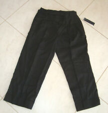 Jones New York Signature Size 8 Black Linen New Womens Pants Slacks