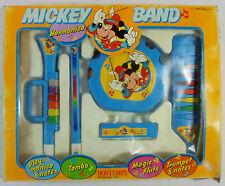 BONTEMPI DISNEY VTG MICKEY BAND PLAY-MONICA TAMBO FLUTE TRUMPET ITALY UNUSED MIP