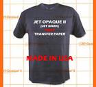 Inkjet Printer Jet Opaque II Dark Fabric Transfer Paper 8.5
