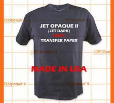 "Inkjet Printer Jet Opaque II Dark Fabric Transfer Paper 8.5"" x11"" 5 Sheets :)"