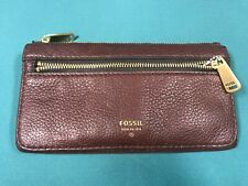 Fossil Preston Espresso Brown Flap Clutch Bifold Wallet