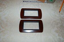 Bticino, 2 Placche coprifrutto 4 moduli, Living Classic mod L4804 BK, mogano